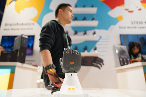 BrainRobotics prosthetic hand CES
